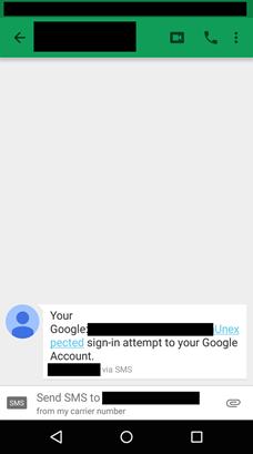 ¡Cuidado! Hackers roban las claves de Google con un SMS falso