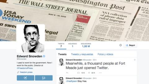 Edward Snowden estrena su cuenta personal en Twitter