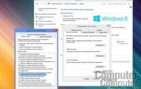 Desactiva las animaciones de interfaz de Windows