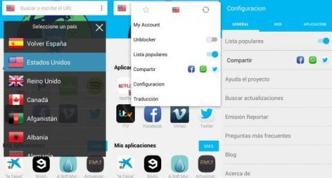 configuración hola app android