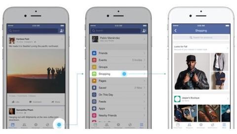 Facebook introducirá feed de compras en app móvil