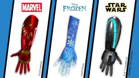 Diferentes modelos de prótesis para niños
