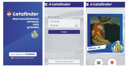 El Getafe te ayuda a ligar con una app mientas ves el fútbol