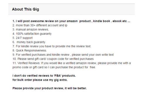 Reseña falsa Amazon