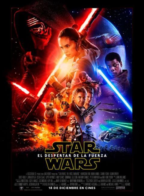 Cartel Star Wars VII: El despertar de la Fuerza