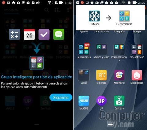 Organización apps Asus ZenFone 2 ZE551ML