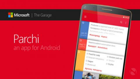 Microsoft presenta una nueva app para tomar notas en Android: Parchi