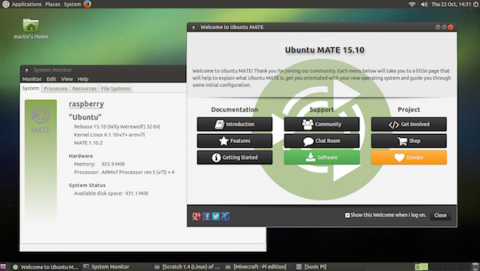 Ubuntu MATE 15.10 está disponible para Raspberry 2