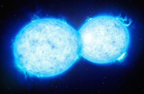 Dos estrellas cercanas se tocan y comparten su materia