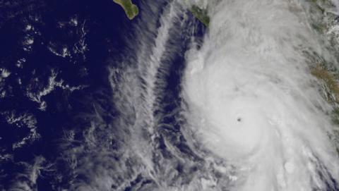 El huracán Patricia desde el espacio en impresionantes fotos