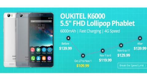 Oferta con la conseguir el Oukitel K6000 al mejor precio