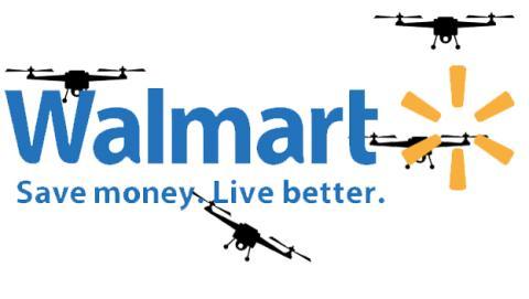 WalMart está probando drones para la entrega de productos