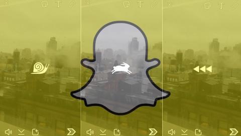 Snapchat te deja acelerar, ralentizar y adelantar vídeos