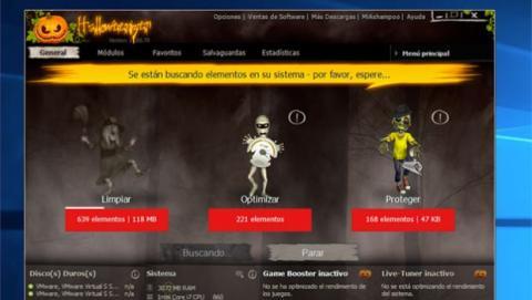 Ashampoo WinOptimizer 11 Halloween Edition optimiza tu Windows