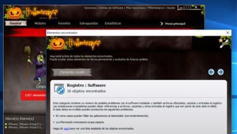 Ashampoo WinOptimizer 11 Halloween Edition repara el registro de Windows