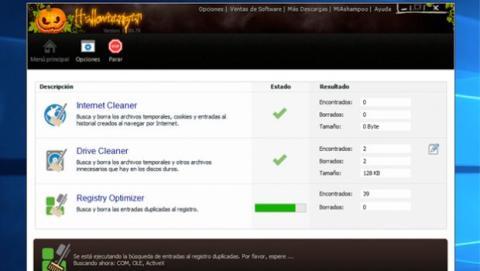 Ashampoo WinOptimizer 11 Halloween Edition permite el mantenimiento con 1 solo clic