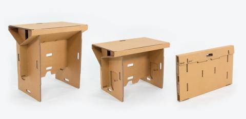 Refold mesa para ordenador de cartón plegable y portátil