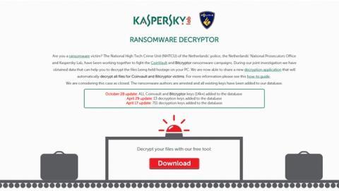 Kaspersky desencripta gratis los PCs secuestrados con ransomware