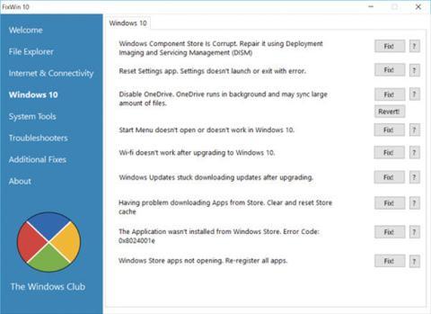 FixWin para Windows 10