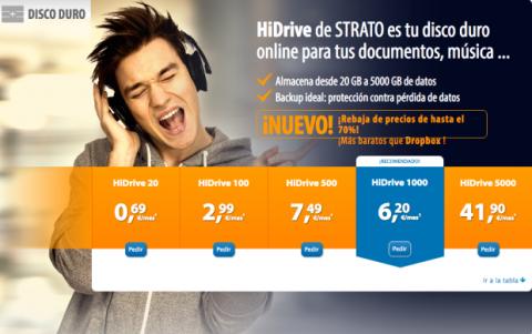 El almacenamiento online de HiDrive, más barato que Dropbox