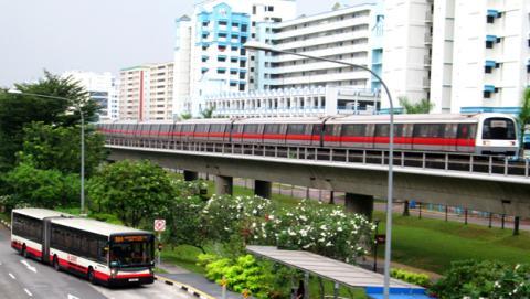 transporte publico Singapur