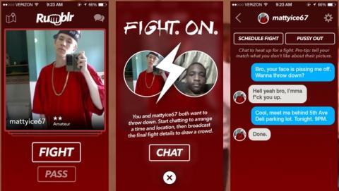 Rumblr, la app para encontrar gente con la que partirte la cara