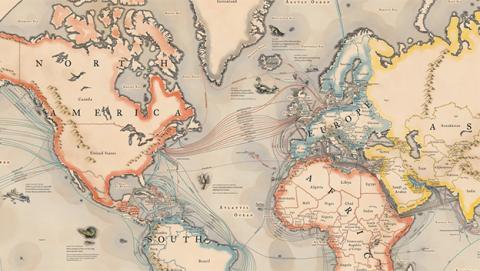 El mapa interactivo de los cables submarinos que conectan Internet