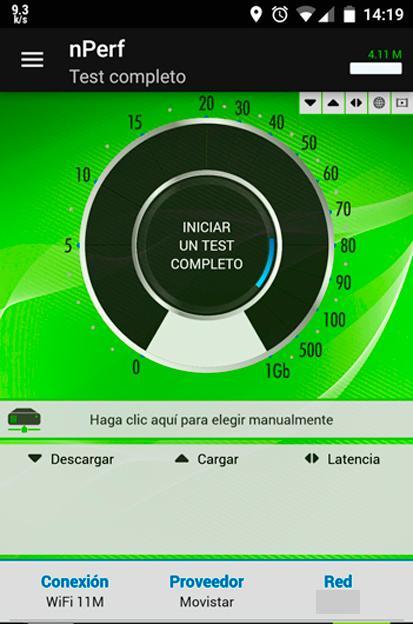 Test de velocidad de nPerf