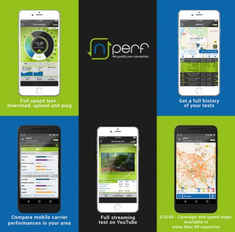 La app de nPerf está disponible desde las respectivas tiendas de aplicaciones