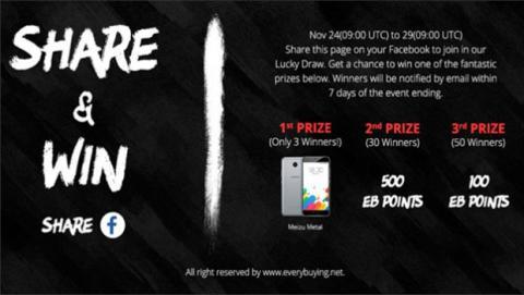 Comparte esta promoción con tus amigos de Facebook y gana premios