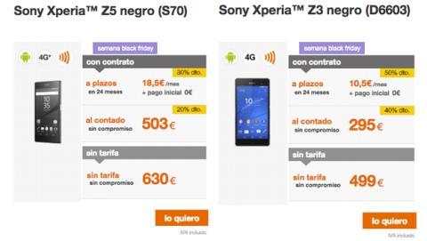 Gama Xperia de Sony