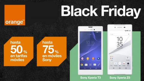 Black Friday en Orange, rebajas en tarifas y en los Xperia