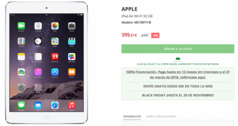 Ofertas Black Friday 2015 El Corte Inglés
