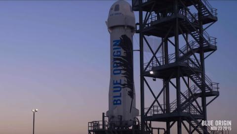 Amazon logra aterrizar con éxito un cohete reutilizable