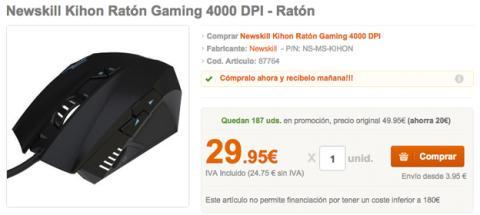 Ratón Gaming Pccomponentes
