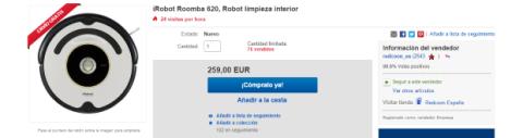 Roomba oferta Cyber Monday