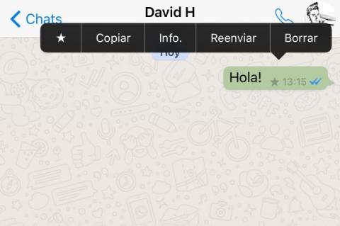 ¿Qué significa la estrella de WhatsApp?