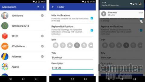 Camufla las notificaciones de Tinder o WhatsApp con esta app