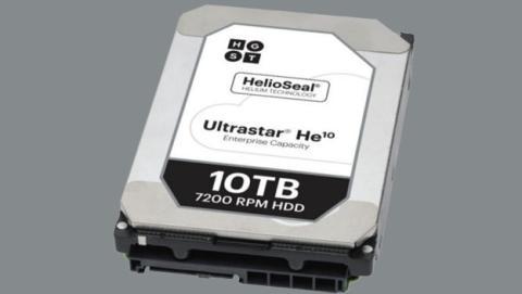 HGST primer disco duro 10 TB HDD lleno helio