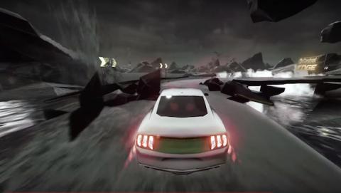 Pilotos compiten en un circuito virtual con coches reales