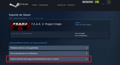 Steam ya permite borrar juegos de tu cuenta para siempre