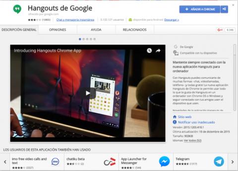 Descarga e instala Hangouts en tu Mac