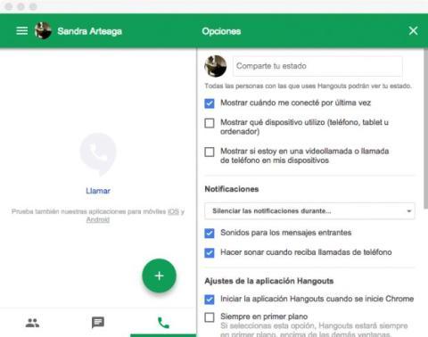 Configura Hangouts