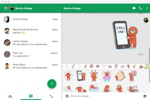 Chatea a través de la app de Hangouts