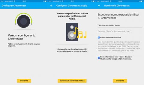 Chromecast Audio configuracion