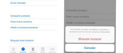 Bloquear llamadas en iPhone iOS