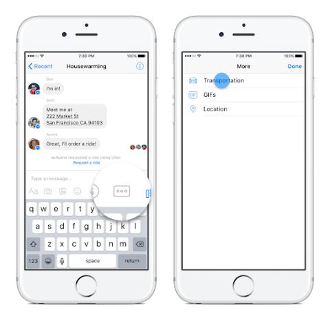 Cómo solicitar Uber en Messenger
