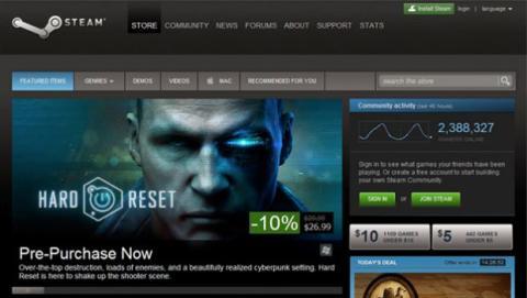 En los videojuegos, es donde más intensamente se ha notado este declive gracias al auge de plataformas online de juegos como Steam.
