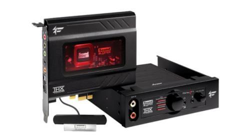 Algunas tarjetas de sonido incluyen mandos remotos con potenciómetros y conectores externos.