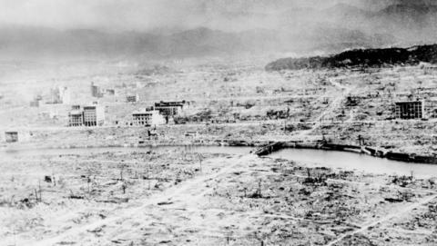 Efectos de la devastación nuclear en Hiroshima.